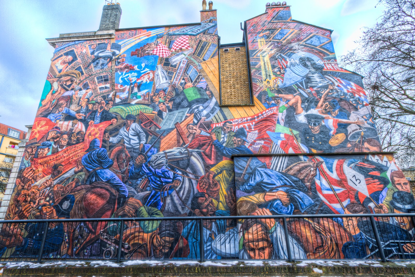 Anglo jewish literature of the twentieth century towards for Cable street mural