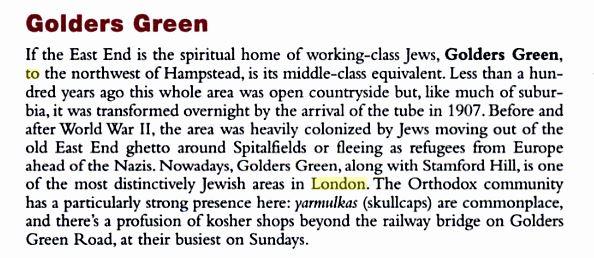 Rough Guide Golder Green